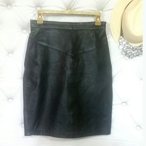 Vintage Genuine Leather Skirt OUTERBOUND by H.M.S